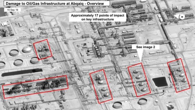 Saudi Aramco's Abqaiq oil processing facilitt damage